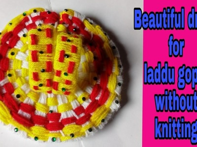 Easy woolen dress for laddu gopal without knitting.bunai.Crochet. Winter dress bal gopal