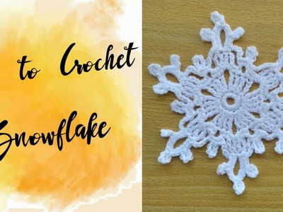 Free Pattern Online | How to Crochet a Snowflake