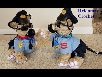 HMCS Crochet Medium Sized German Shepherd Police Dog Part 3 of 4