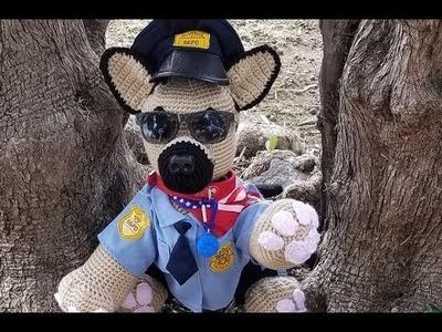 HMCS Crochet Medium Sized German Shepherd Police Dog Part 4 of 4