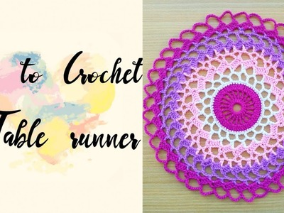 How to Crochet a Round Table Runner (3)