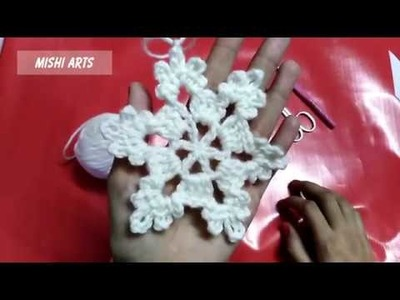 How To Crochet a Snowflake - Christmas Decoration