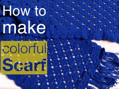 How to crochet an Shawl for beginners I Ladies Stole I Ladies Shawl I Threads And Needles