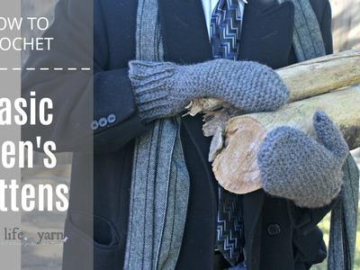 How to Crochet: Basic Men's Mittens