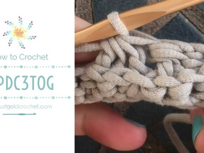 Stitch, How to Crochet: BPdc3tog - Back Post Double Crochet