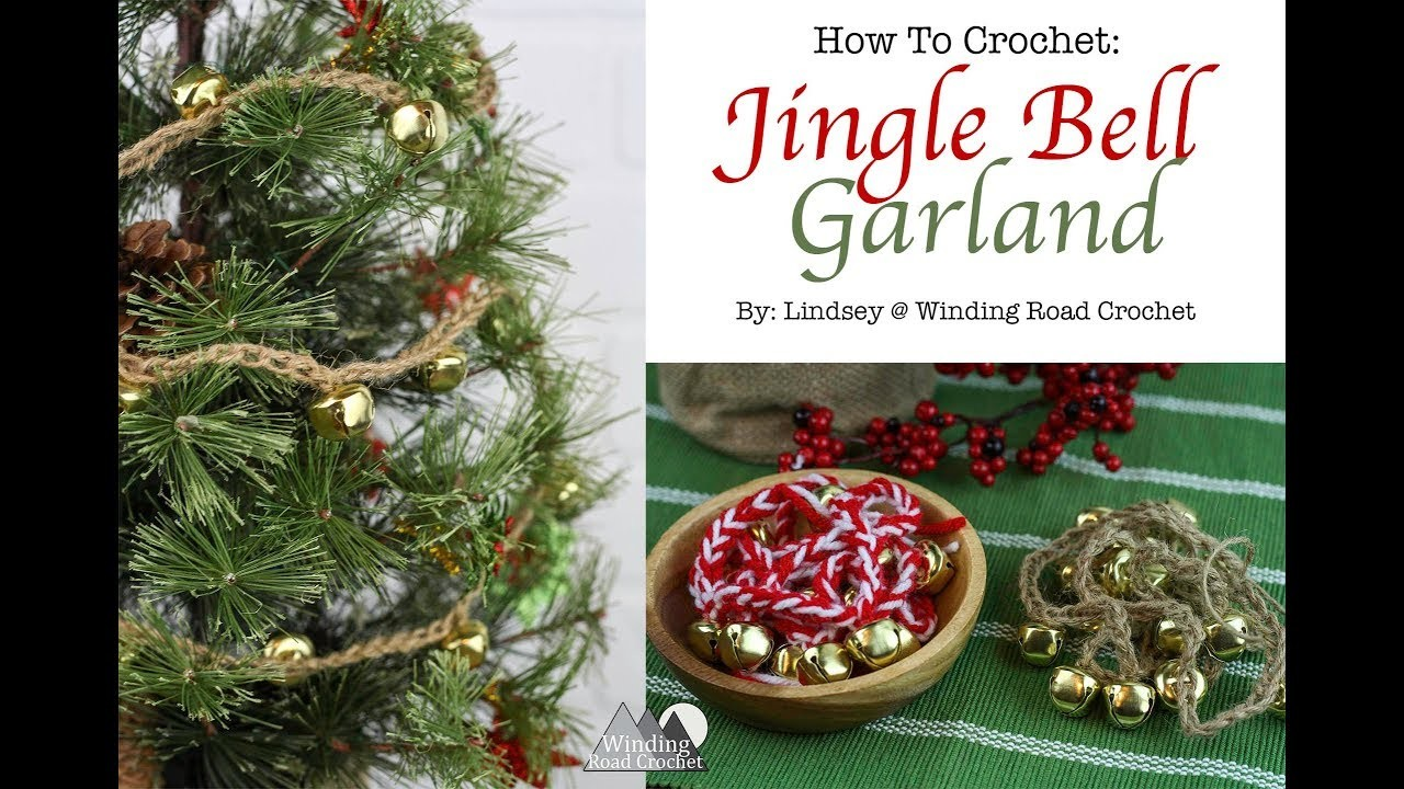 How to Crochet: Jingle Bell Garland