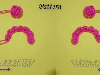 How to crochet small and smaller Rose Flower