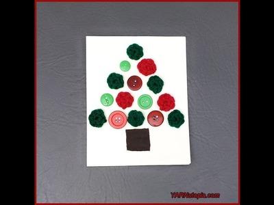 How to Crochet Tutorial: DIY Christmas Tree Greeting Card by YARNutopia