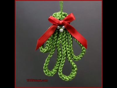 How to Crochet Tutorial: DIY Mistletoe Sprig by YARNutopia