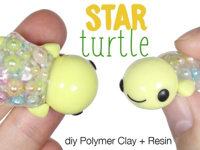 How to DIY Star Turtle Polymer Clay.Resin Tutorial