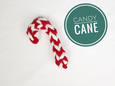 How to Loom Knit a Christmas Candy Cane Ornament (DIY Tutorial)