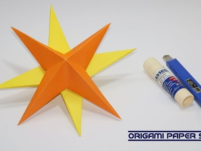 How To Make a 3D Paper Star | Easy Origami Star | DIY Paper Crafts