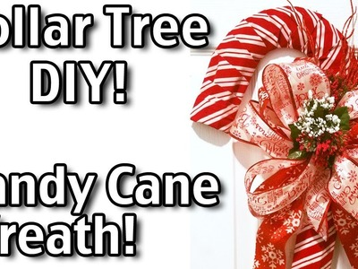 How To Make A Candy Cane Wreath - Dollar Tree Diy Christmas Candy Cane Wreath!