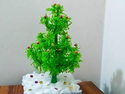 How to make an easy Christmas Tree.Woolen Christmas Tree.DIY