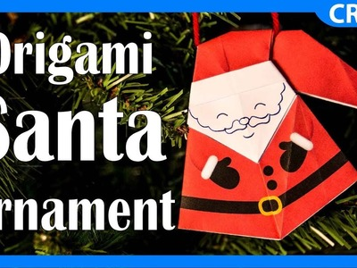 How to Make an Origami Paper Santa | Easy DIY Christmas Ornament Project