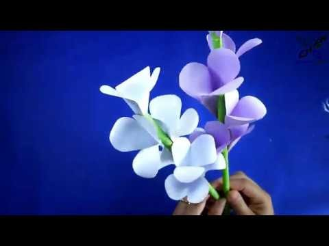 How to make | beautiful paper color flowers | DIY