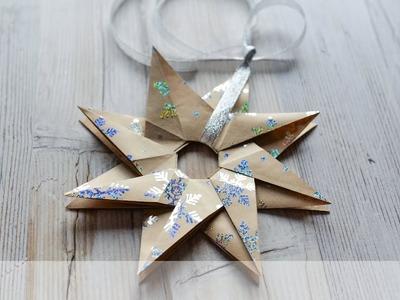 How to make: Christmas Star Origami | Świąteczna Gwiazda Origami - Advent Calendar 2018 #3