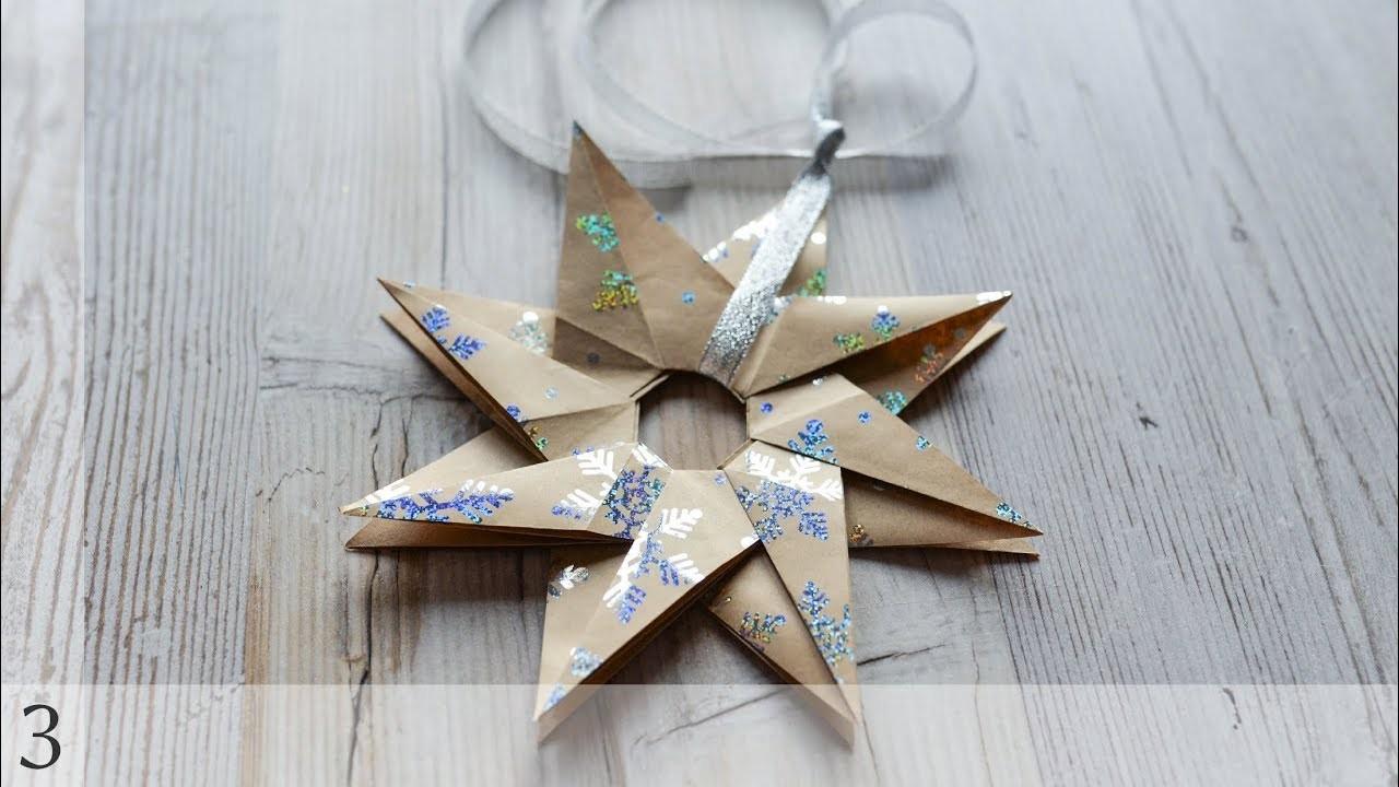 How to make: Christmas Star Origami   Świąteczna Gwiazda Origami - Advent Calendar 2018 #3