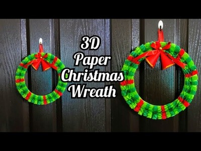 How to make Paper Wreath | Christmas Decorations |  DIY Christmas Wreath ||Paper Decoration