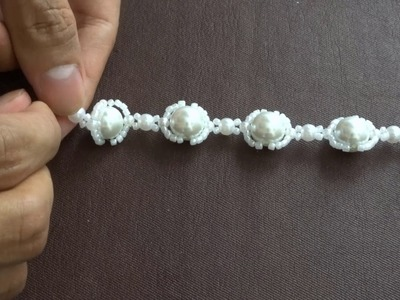 How to make white pearl beads neckless | easy amazing diy jewelry making idea