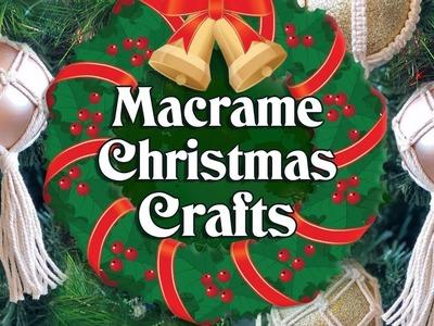 Macrame Christmas Crafts and DIY ideas ❄️????????????