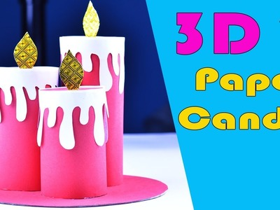 Make Paper 3D Candle | DIY Origami Paper Candle Tutorial