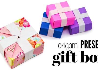 Origami Present Gift Box Tutorial - DIY - Paper Kawaii