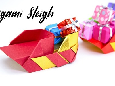 Origami Santa's Sleigh Tutorial - Christmas DIY - Paper Kawaii