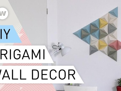 Origami wall decor | DIY tutorial quick and easy | Paper folding art - Origami | Decorating Ideas