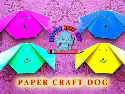 PAPER DOG FOR KIDS | SIMPLE AND FUN PAPER IDEAS | DIY PAPER CRAFTS | EASY ORIGAMI PAPER DOG