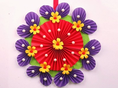 Paper Flowers Wall Decor diy - Paper Flowers Tutorial - Paper Flowers Making Easy at Home