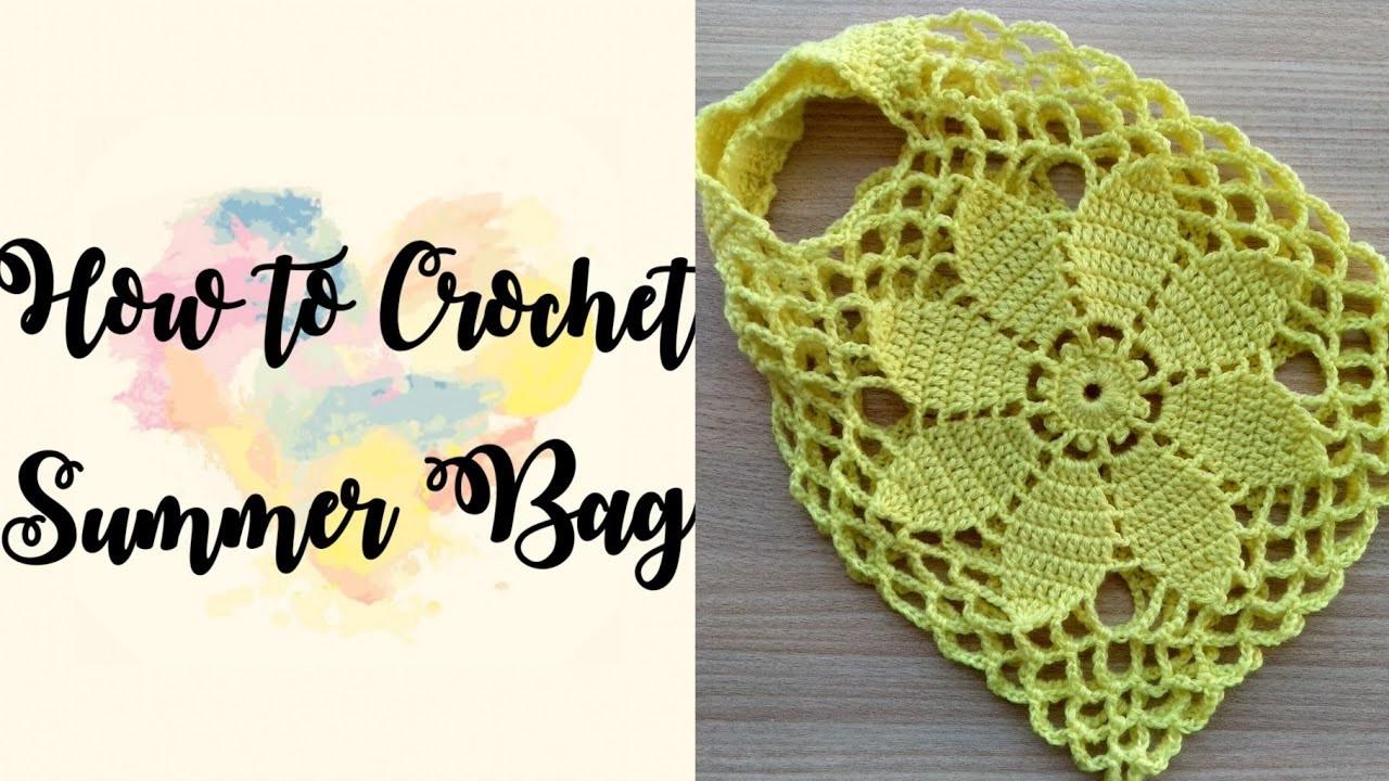 Part 2   How to Crochet Summer Flower Bag