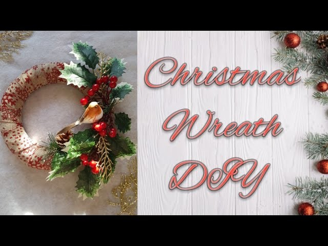Poundland Christmas Wreath DIY