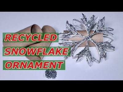 Recycled Christmas DIY. Making Snowflake Ornaments. Easy Snowflake Ornament Tutorial ( How To )