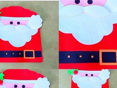 Santa ???? christmas card DIY.easy DIY Christmas card idea.Malayalam video