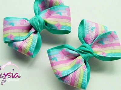 Simple and Easy Ribbon Bow Tutorial ???? DIY by Elysia Handmade