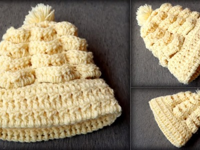 Super Easy Woolen baby Cap | Tutorial Crochet Hat | Knitting Cap For New Born. 0-3 month baby
