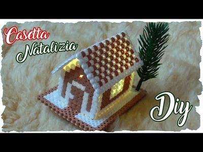 Tutorial: Casetta Natalizia con le PERLINE da STIRARE | CHRISTMAS DIY with HAMA BEADS