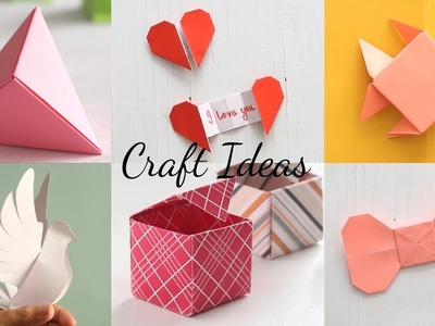 6 Easy Paper Craft Ideas | Handcraft | Easy Origami