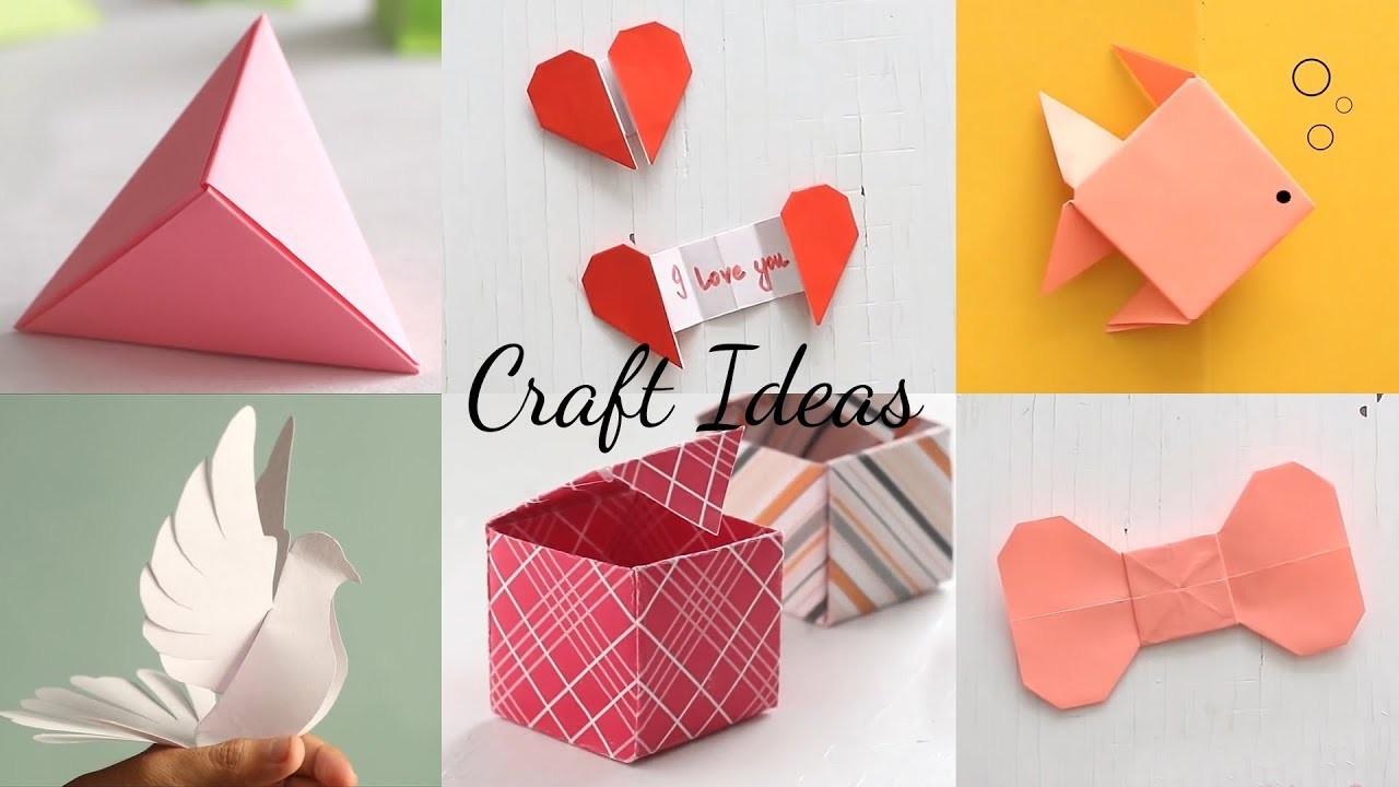 6 Easy Paper Craft Ideas | Handcraft | Easy Origami