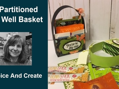 A Partitioned Treat, Note Card, Birthday or Get Well Basket