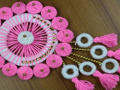 Amazing! Woolen Craft Idea || Beautiful Door Hanging Toran - New woolen design - DIY arts and crafts