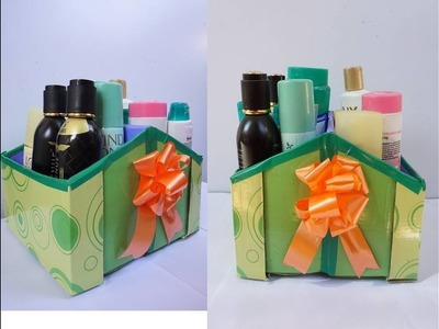 Best Space Saving Organizer from empty Shoe Box   Home Organizer   Best out of waste Shoe box Craft
