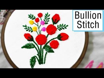 Bullion Stitch Embroidery