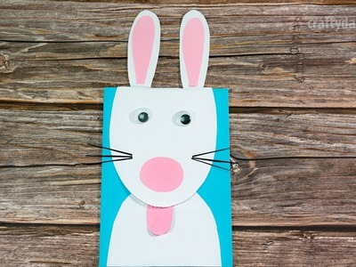 CUTE PAPER BUNNY CARD | Easy Craft for Kids | Activities for Kids