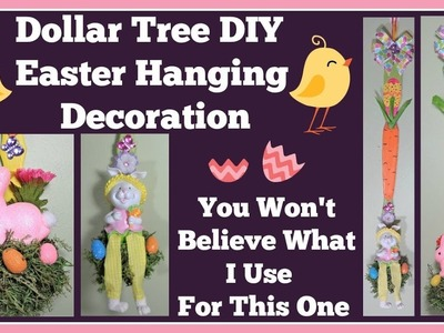 DIY Dollar Tree Easter Decoration ???? You won't Believe what I use for this one