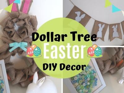 DIY DOLLAR TREE FARMHOUSE EASTER DECOR | DIY BURLAP EASTER DECOR | BURLAPFABRIC.COM