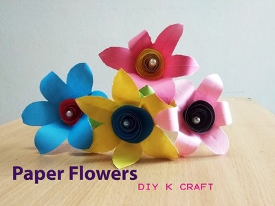 DIY Easy Paper Flower Stick | DIY K Craft