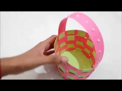 DIY Paper Basket | How to make a Paper Basket | Paper Craft Idea for kids.