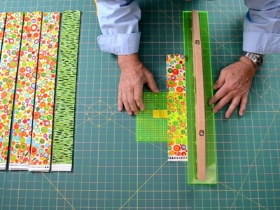 """DIY Precuts   Cut forty two  2-1.2"""" inch WOF Strips in under 10 minutes"""